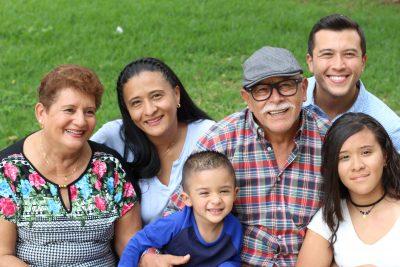 Three generations of a hispanic family