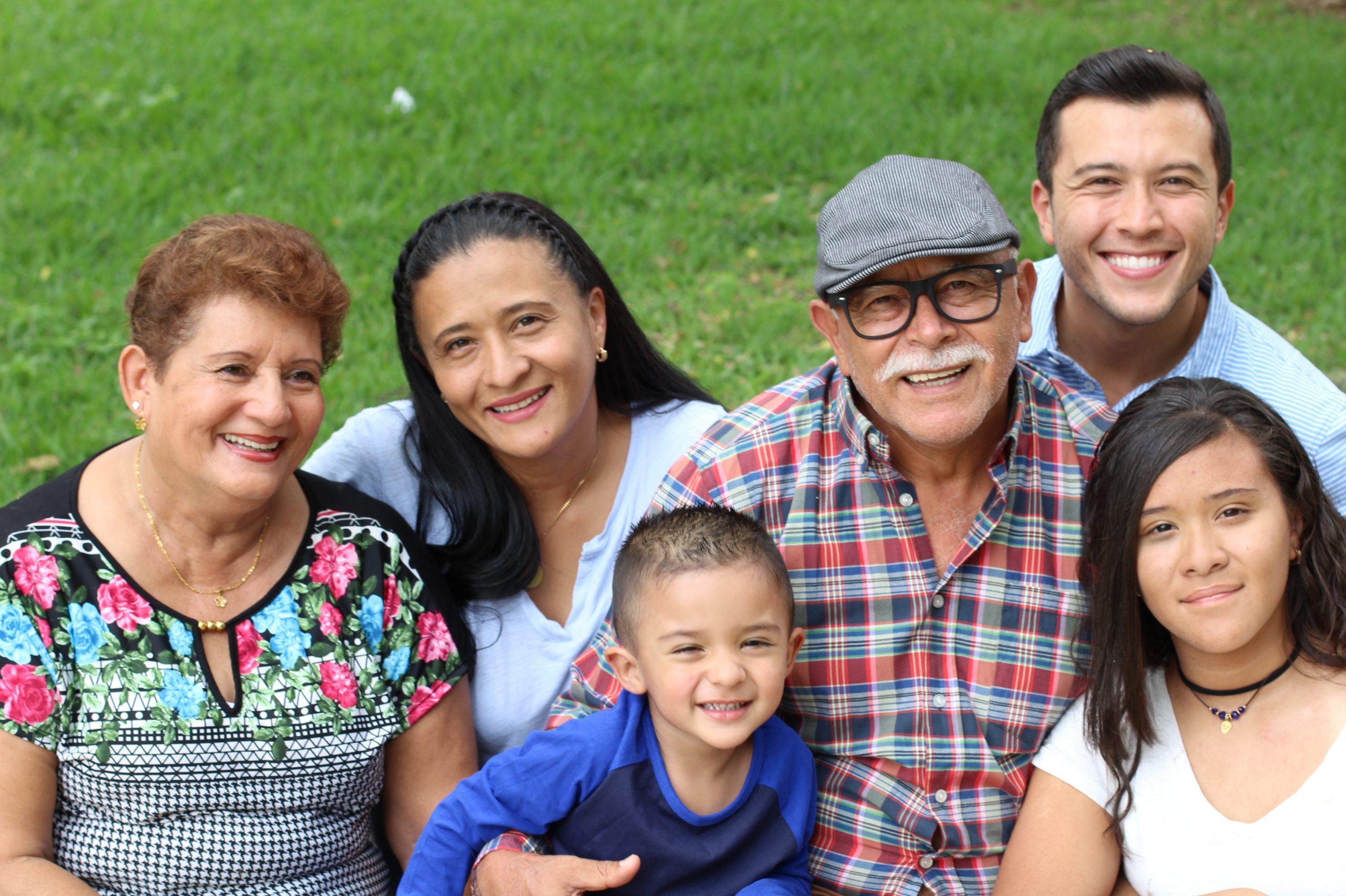 Three generations of a hispanic family