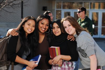 Group of Diverse College Students in School campus