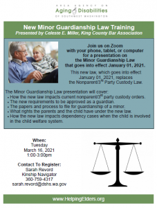 New Minor Guardianship Law Training @ online