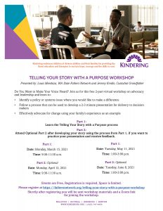 Telling Your Story with a Purpose Workshop @ online