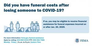 FEMA can help pay for COVID death funeral expenses